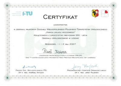 Urolog Certyfikat Poznań (6)